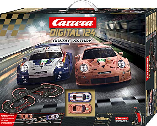 Carrera DIGITAL 124 20023628 Double Victory Autorennbahn Set