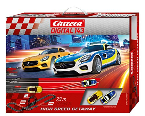Carrera DIGITAL 143 20040038 High Speed Getaway Autorennbahn Set