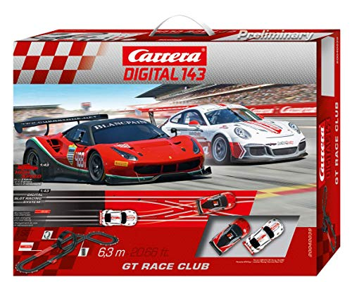 Carrera DIGITAL 143 20040039 GT Race Club Autorennbahn Set