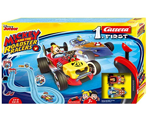 Carrera FIRST 20063030 Mickey and the Roadster Racers 2,9 Meter ab 3 Jahren Mickey Mouse Vs. Donald Duck